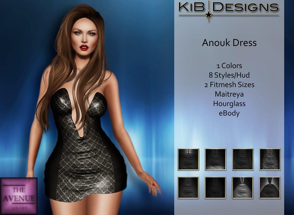 KiB Designs - Anouk Minidress BLACK for The Avenue 35% Off - SecondLifeHub.com
