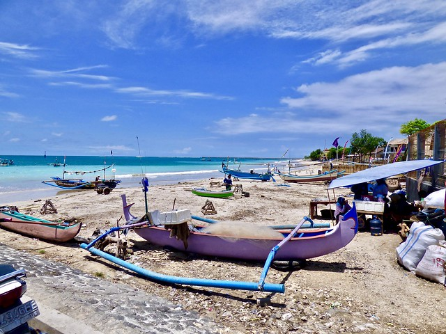 Jimbaran beach .