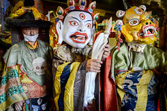 Buddhist monks during the Cham, a sacred dance performed on certain ritual occasions.