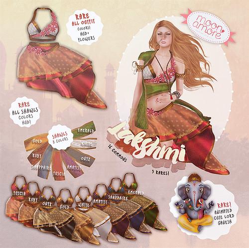 Moon Amore: Lakshmi Outfit & Ganesha Companion