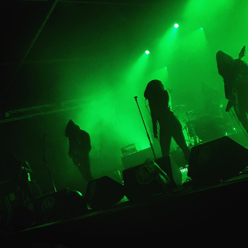 Closing Metal Méan 2015 were German Atmospheric Black Metallers (DOLCH). Although not as familiar with their material as I would have liked, I found their ethereal soporific vibe to be the perfect coda to the night's proceedings. I have since been haunted