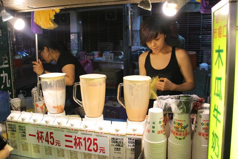 【新北市三重】三和夜市,市場口木瓜牛奶專賣店,三和夜市好喝的木瓜牛奶(近捷運台北橋站)