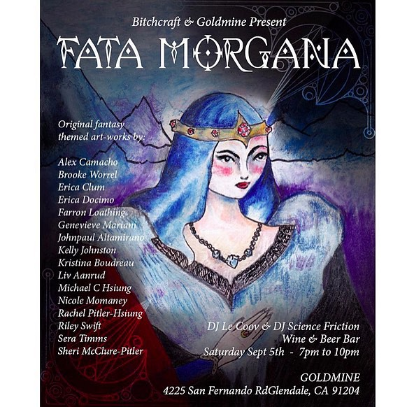I'm excited be participating in @bitchcraftla group art show Fata Morgana Sept. 9th @earthlingjewelry  #bitchcraft #fatamorgana #goldmine