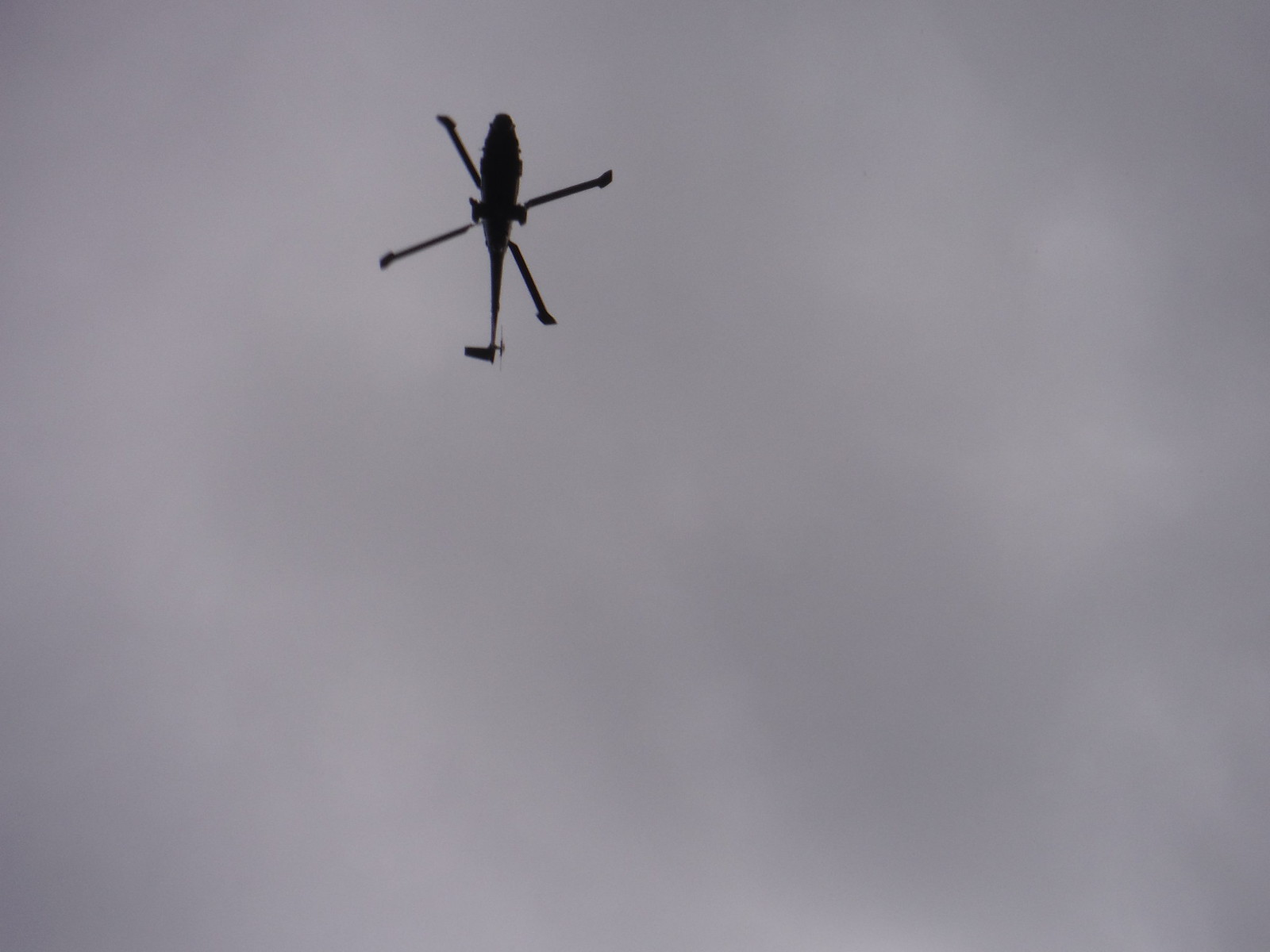 Helicopter above SWC Walk 251 Tisbury Circular via Ludwell and Berwick St. John