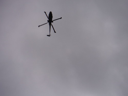Helicopter above