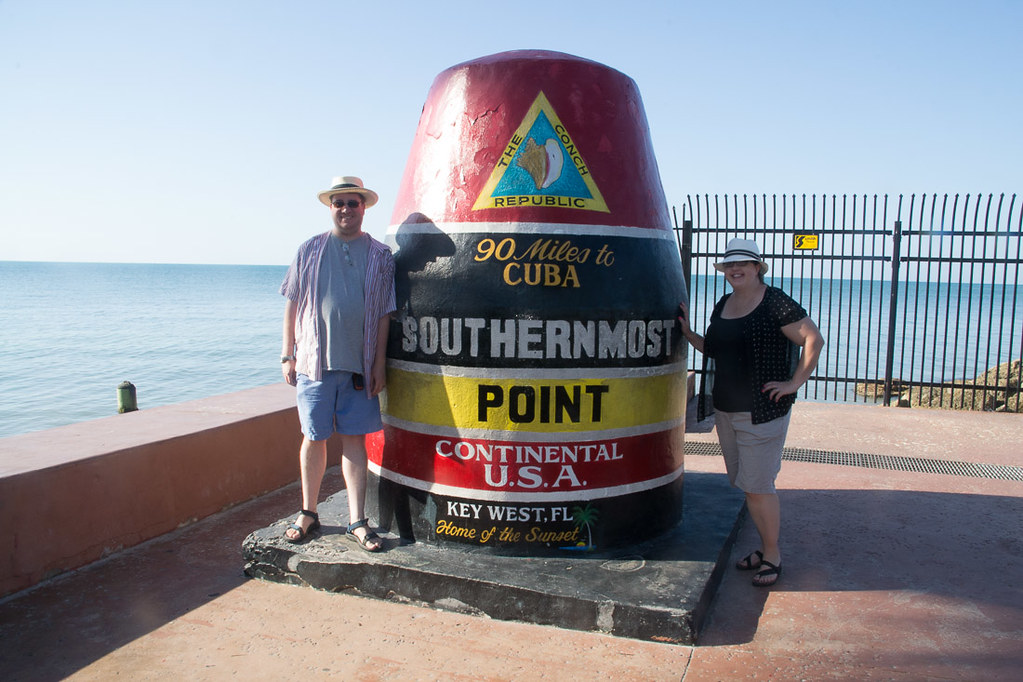 Ken and I at the Southernmost Point in the Continental USA - Key West