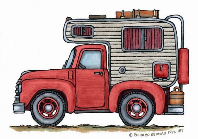 Whimsical Vintage Truck Camper