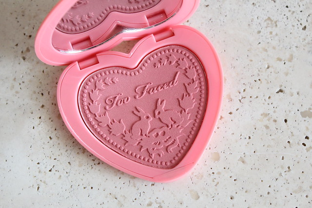 Too Faced Love Flush blush in love hangover review and swatches