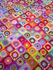 patchwork granny square blanket by riavandermeulen