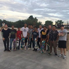 #Shinedown is HERE!! Taking time out to say hi to kids over at Pakitu Skate Park before their #CONCERT, #TONIGHT at Socorro Entertainment Center!! Rock with us, #ElPaso. Doors open at 5pm Music starts at 8pm. Tickets sold at the door what are you waiting