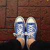 Have I mentioned lately how much I love these shoes? #allstar #converse #blue #shoe #walk #nofilter