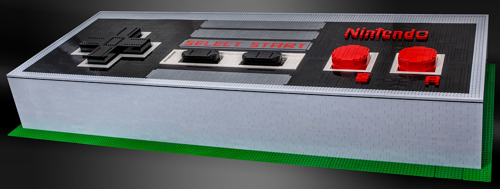 Giant Functional LEGO NES Controller Mk.II