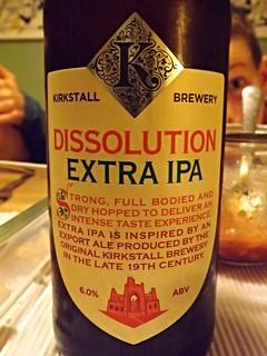 Kirkstall, Dissolution Extra IPA, England