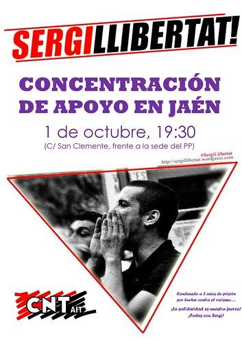 Concentración de apoyo a Sergi Hernández en Jaén
