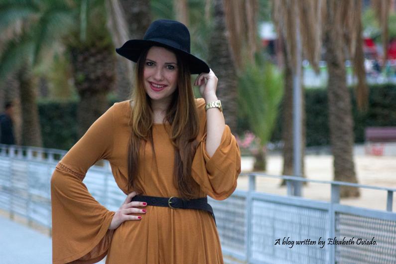 Vestido mostaza PULL AND BEAR INDITEX OTOÑO 2015 HEELSANDROSES (9)