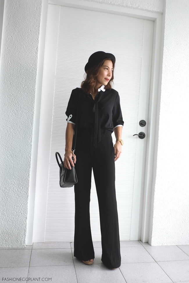 BLACK BELL BOTTOMS STREET STYLE