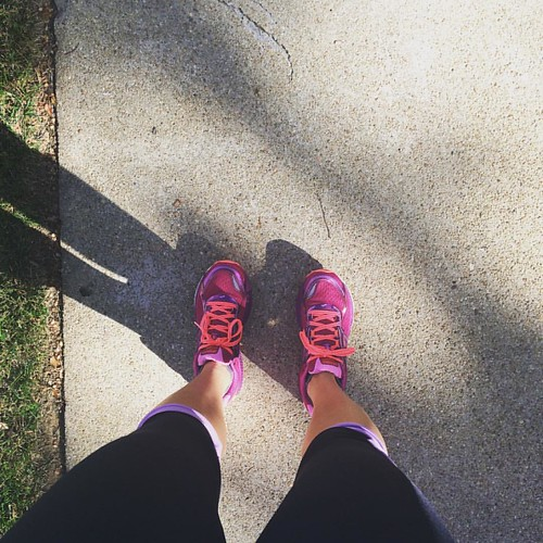 Finally got a chance to try out this new pair of @brooksrunning shoes from @shape_magazine on my run this afternoon! #runhappy