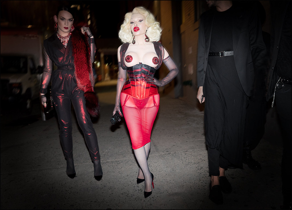 Amanda Lepore arrives at The Blonds NYFW 9-2015