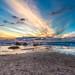 Seashore at sunset by Sergio Gold