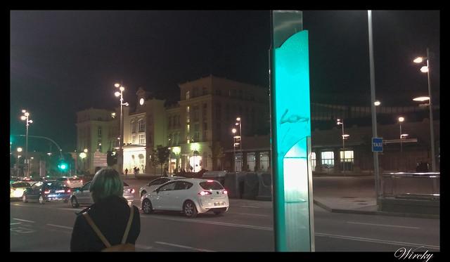 Poste de la parada de autobús