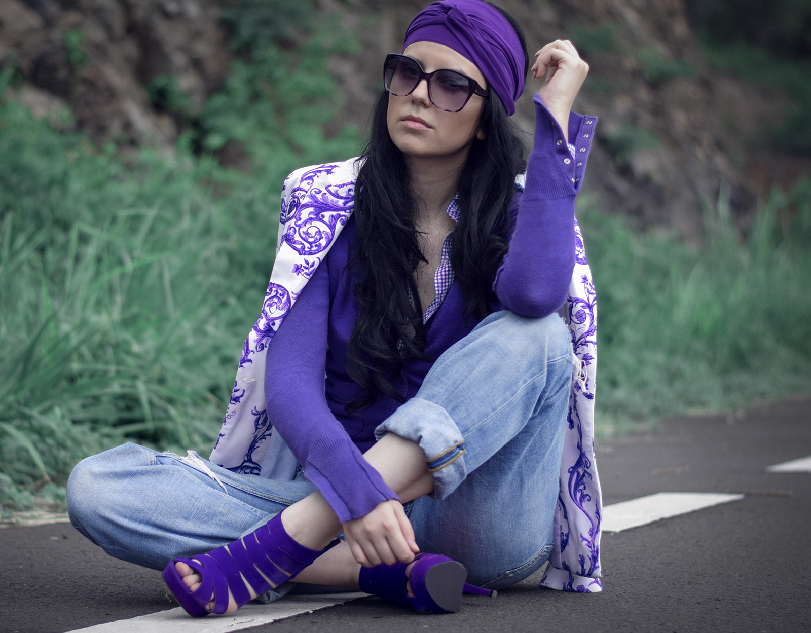 one color look purple