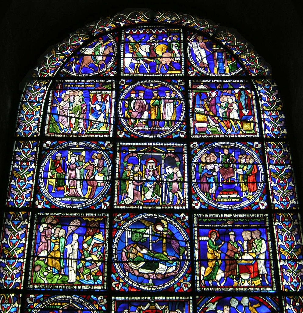 Canterbury Cathedral - upper half of Poor man's Bible window