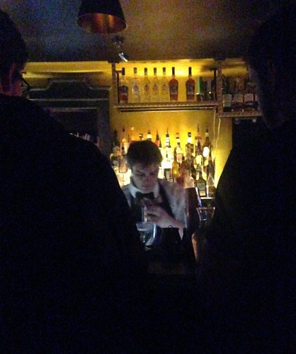 Inside the secret cocktail bar called film club.