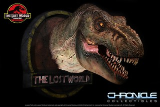 Chronicle Collectibles 侏羅紀公園:失落的世界【T-Rex】1/5 比例 霸王龍頭像作品