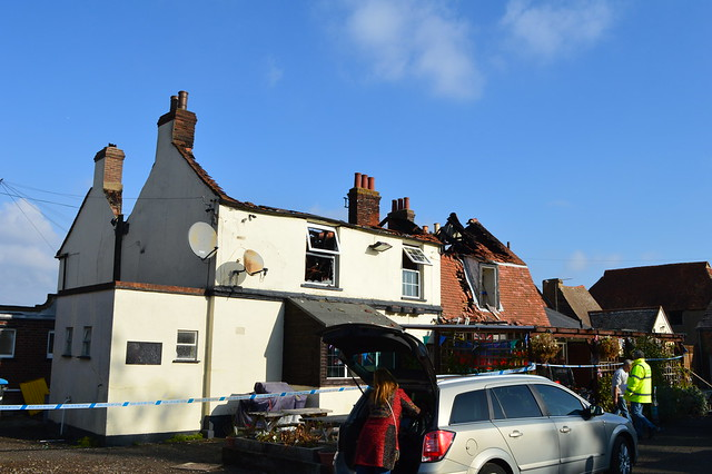 Red Lion Pub Fire High street Great Wakering Back Front photo below in first comment