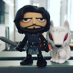 Jon Snow and Ghost PoP Minis