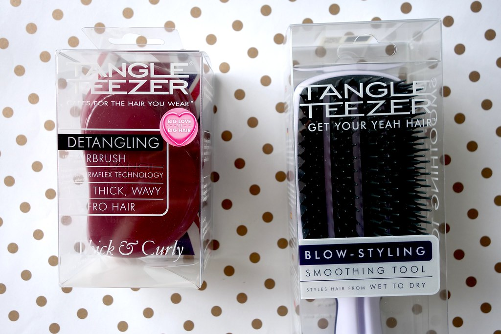 Tangle Teezer Blowdry and Thick and Curly