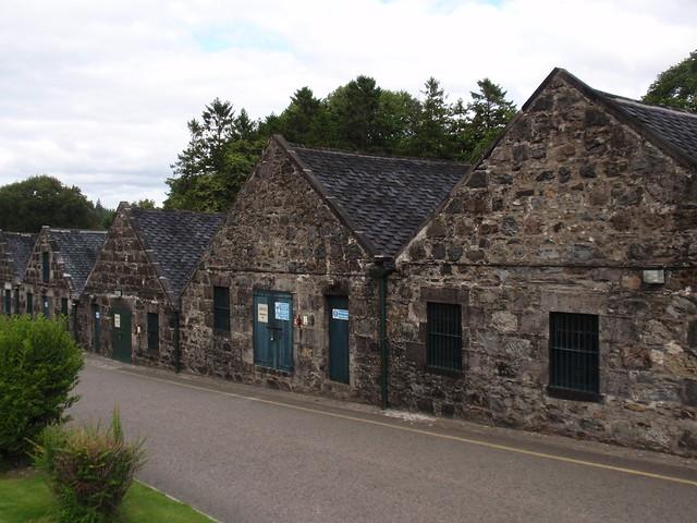 Warehouses at Cragganmore distillery
