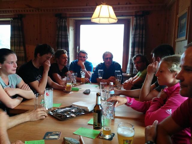 Unsere Tourentruppe in der Oberetteshütte