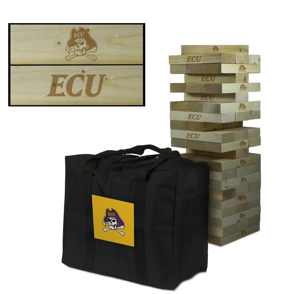 East Carolina University Pirates wooden tumble tower game