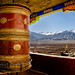 The Bigger the Prayer Wheel, The Greater the Likelihood of Salvation at Thiksey, Ladakh in color by Anoop Negi