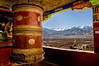 The Bigger the Prayer Wheel, The Greater the Likelihood of Salvation at Thiksey, Ladakh in color