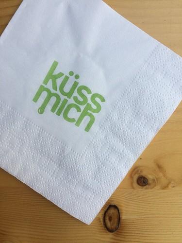 Leck Mich küss mich napkin _Berlin gluten-free ice cream