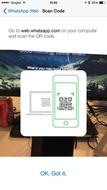 WhatsApp iOS - WhatsApp Web - Scan QR Code