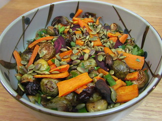 Lemon-Roasted Beets, Brussels, and Yams