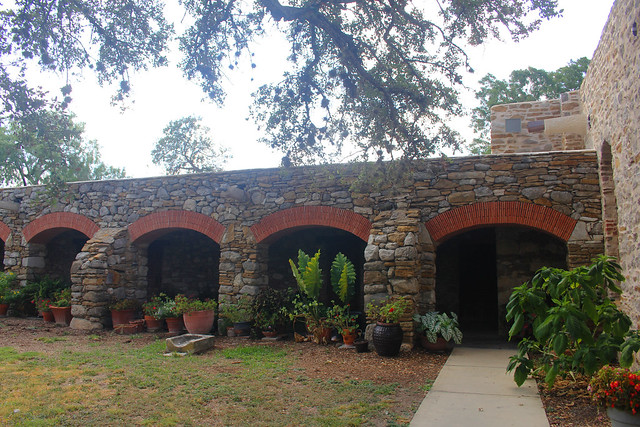 Arches and Flowers at Mission Espada