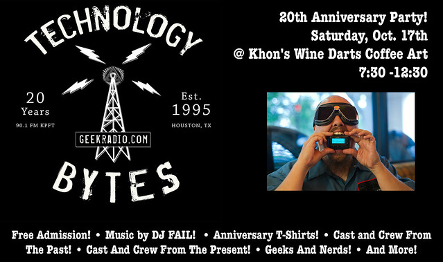 Technology Bytes Anniversary Party Flyer