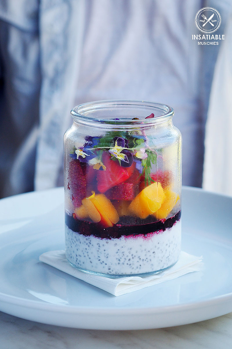 Sydney Food Blog Review of Danno's, Dee Why: Organic Breakfast Trifle, Coconut Milk, Chia Seed, Mango, Yoghurt, Mixed Berries, $16