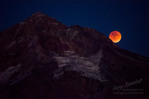 Mount Hood And The Supermoon Eclipse