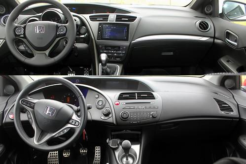 Honda Civic 2015 arriba VS Honda Civic generación anterior