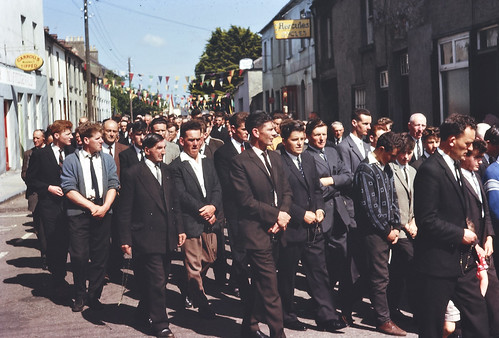 Group of men, Corpus Christi procession, Cahir, Co. Tipperary