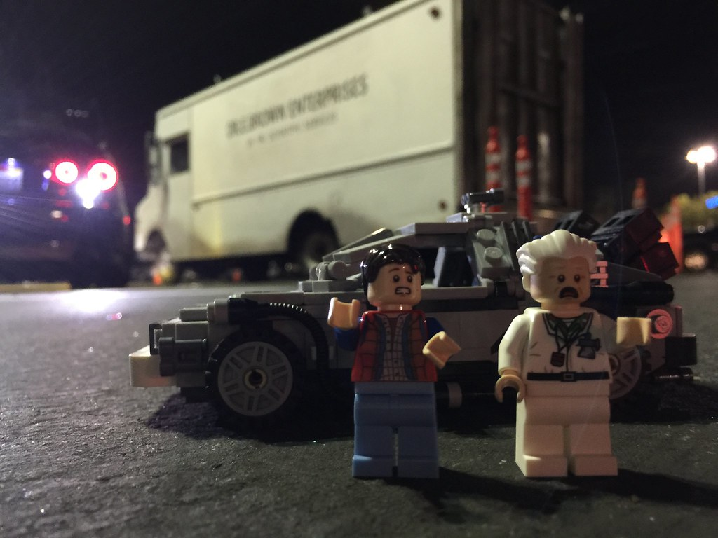 Lego doc and Marty paid a visit