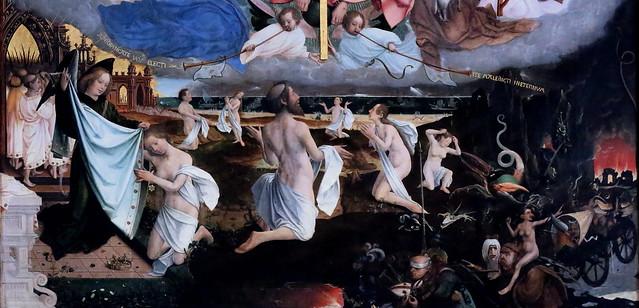 IMG_3193H Jan Provoost. 1462-1529. Bruges.   Le Jugement Dernier.  The last Judgement. 1525. Bruges. Groeninge Museum.