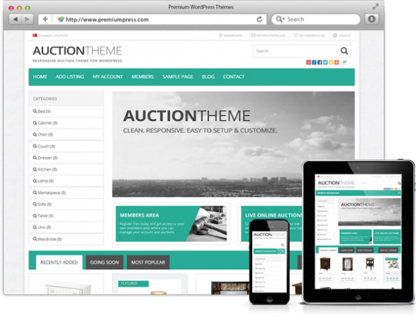 PremiumPress Auction v8.8 – Theme for WordPress