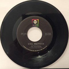 THE O'KAYSIONS:GIRL WATCHER(RECORD SIDE-A)
