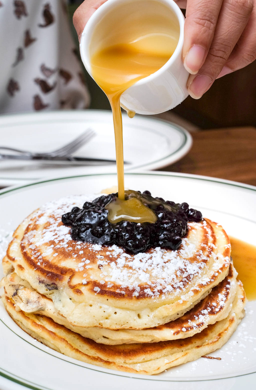 clinton street bakery: Pancakes with warm maple butter